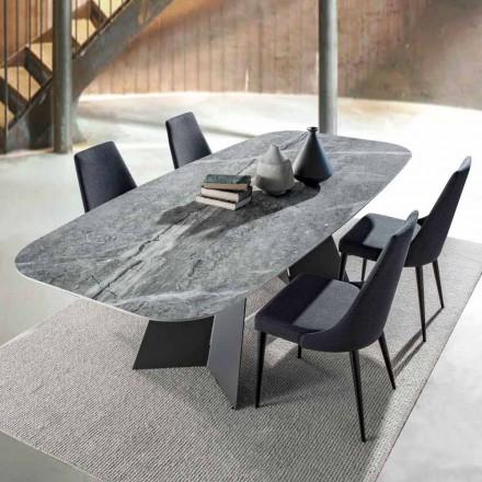 Modernt matbord med porslinstentopp - Meduno