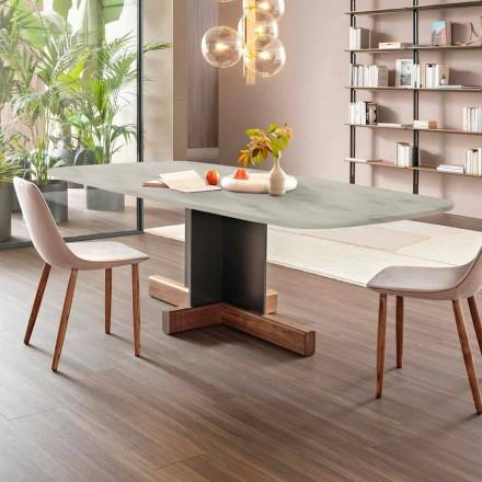 Modernt matbord med marmorplatta Tillverkad i Italien - Bonaldo korsbord