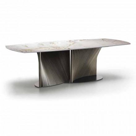 Lyxigt matbord i stengods och ask i Made in Italy - Croma
