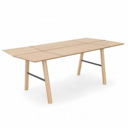 Modernt matbord i ask med svart eller gulddetaljer - Andria