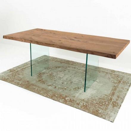 Modernt matbord i äldre trä och glas tillverkat i Italien - Strappo
