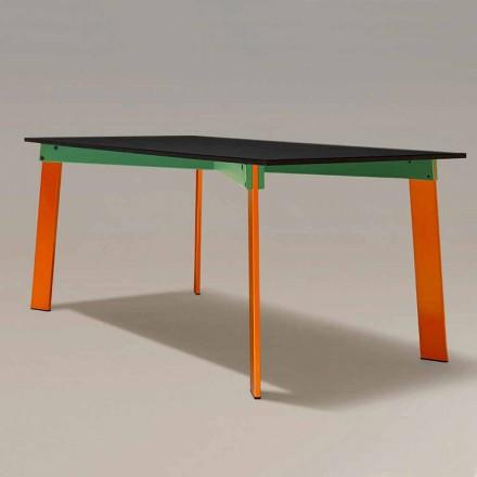 Modernt matbord Trätopp och stålbas Tillverkad i Italien - Aronte