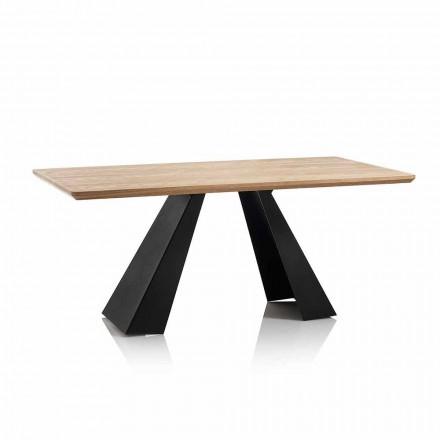 Modernt rektangulärt matbord med topp i ekfärg Mdf - Volo