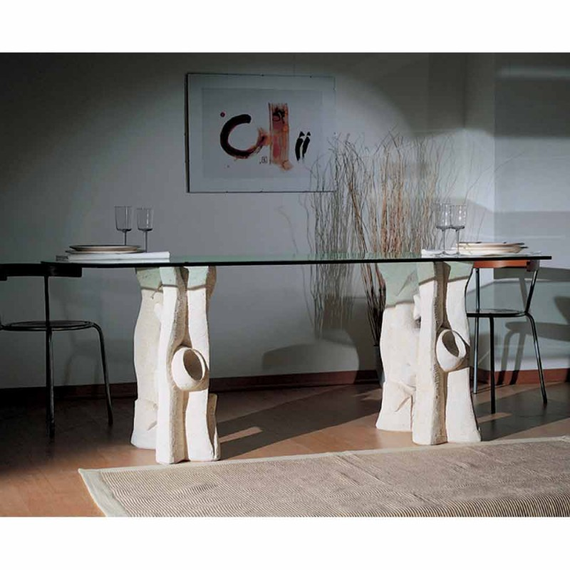 ovala matbord petra och modern design crystal Daiana