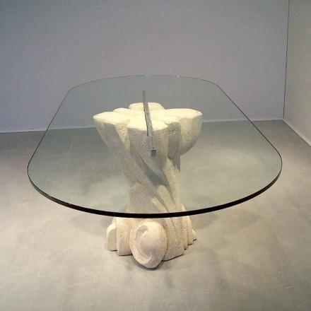 Afrodite modern design sten och kristall oval matbord