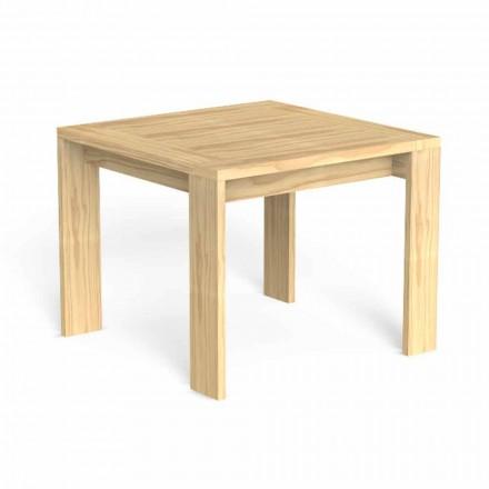 Fyrkantigt uteserveringsbord i ädelt trä - Argo av Talenti