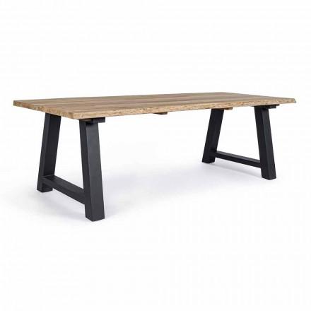 Matbord utomhus i teak och aluminium, Homemotion - Rolando
