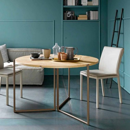 Modernt fällbart matbord i trä och metall Tillverkad i Italien - Menelao