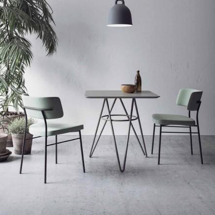 Fin matbord med fyrkantig topp i HPL tillverkad i Italien - Dublin