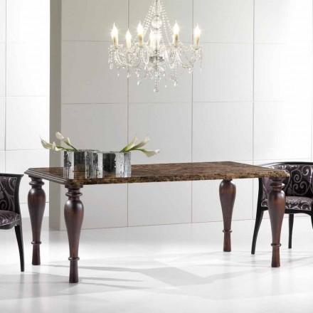 Rektangulärt matbord i Emperador Dark Marble Tillverkad i Italien - Nicolas