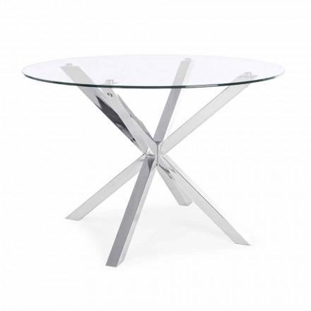 Homemotion runt matbord med härdat glasskiva - Denda