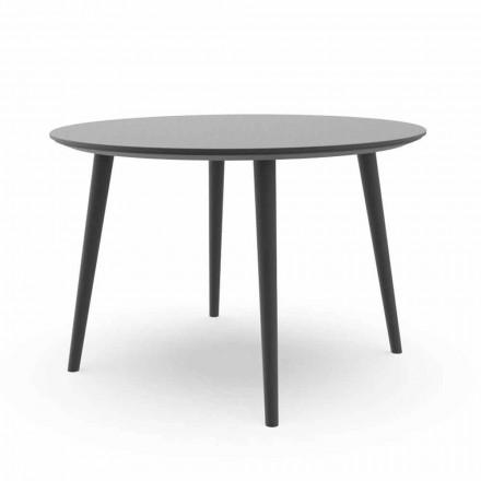 Runt trädgårdsmatsbord i vit aluminium eller kol - Sofy Talenti