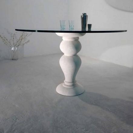 runda matbord i sten och kristall Oedipus, klassisk design