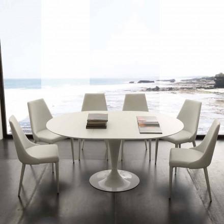 Rundt matbord förlängningsbart upp till 170 cm Topeka, modern design