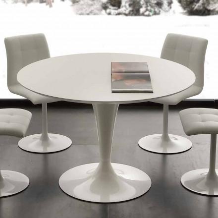 Topeka vitt runt matbord, modern design
