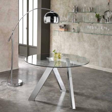 Runda matbord med glasskiva i Adam, modern design