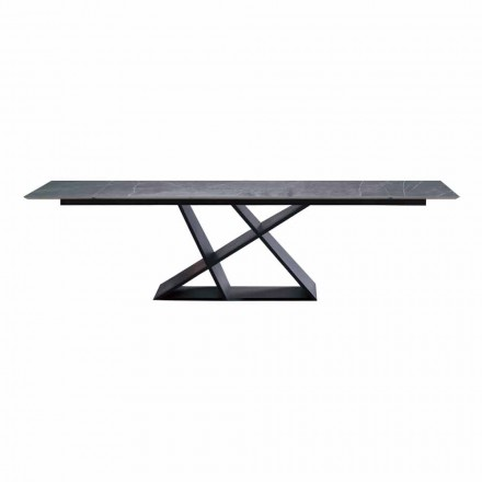 Utdragbart designbord upp till 294 cm med Made in Italy Gres Top - Cirio