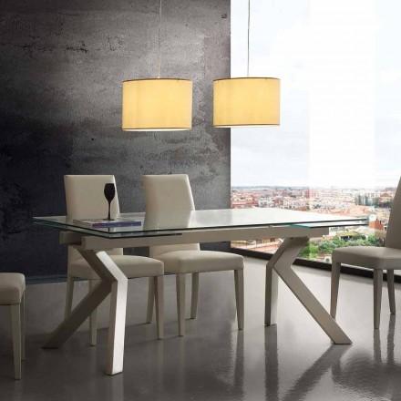 Design bord utdragbar metall och härdat glas Mesa