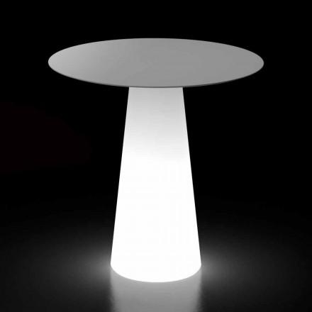 Utomhusdesignbord med LED-ljusbas Tillverkad i Italien - Forlina