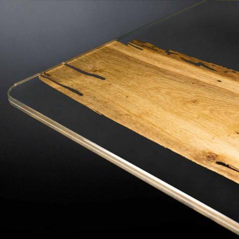 Dolphin Designer träbord och Venedig venetianska glas