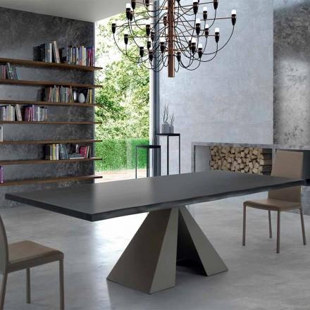Designbord i ädelträ och stål tillverkat i Italien - Dalmata