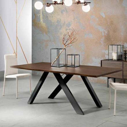 Design massivt träbord tillverkat i Italien, Wilmer