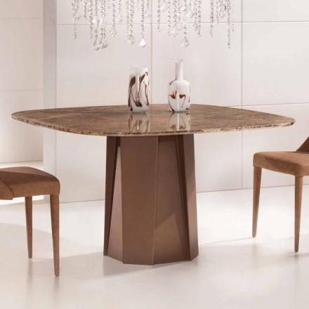 Designbord i Emperador Dark Marble 130x130 cm, tillverkad i Italien - Nuvolento