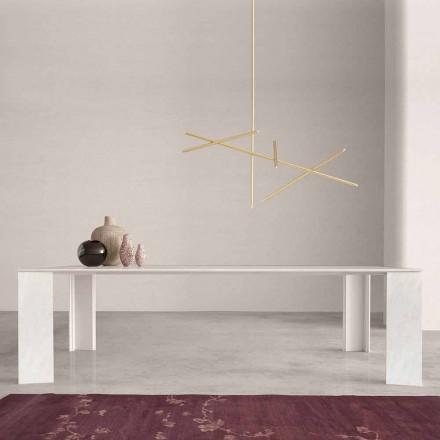 Designbord i Namibia White Marble Tillverkad i Italien, 210x110 cm - Monastero