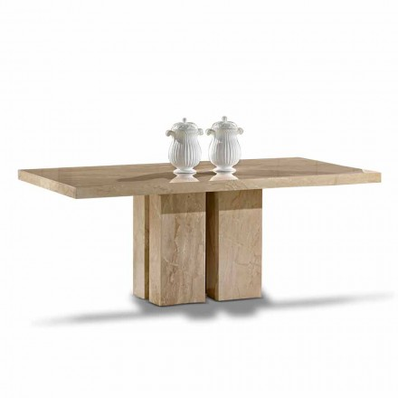 Lyxbord med modern design, topp i Daino Marble tillverkad i Italien - Zarino