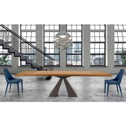 Modernt utdragbart träbord upp till 300 cm - Dalmata