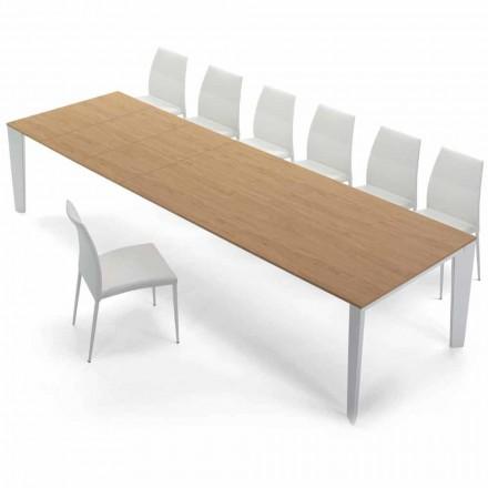Venereed Wood utdragbart bord upp till 325 cm Tillverkad i Italien - Settanta