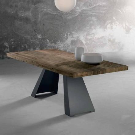 Matbord lyxig design i massivt trä, tillverkade i Italien, tråd