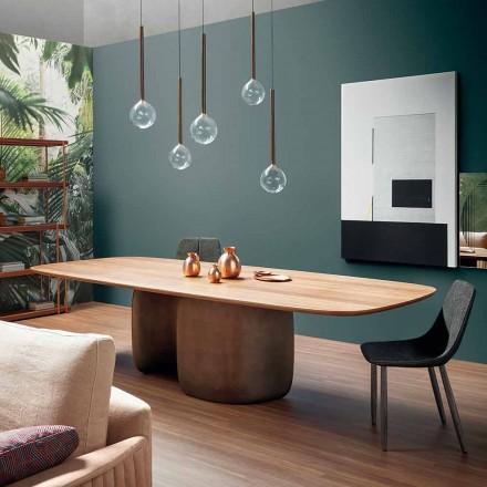 Modern massivt träbord tillverkad i Italien - Bonaldo Mellow