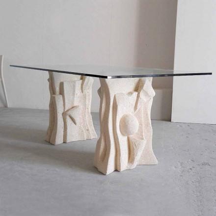 sten bord med modern design crystal Priam