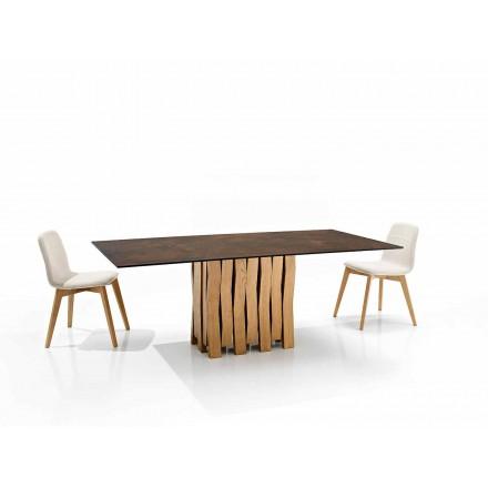Modernt designbord i glaskeramik tillverkat i Italien, Egisto