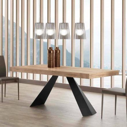 Modernt utdragbart bord upp till 260/280 cm i trä och metall - Teramo