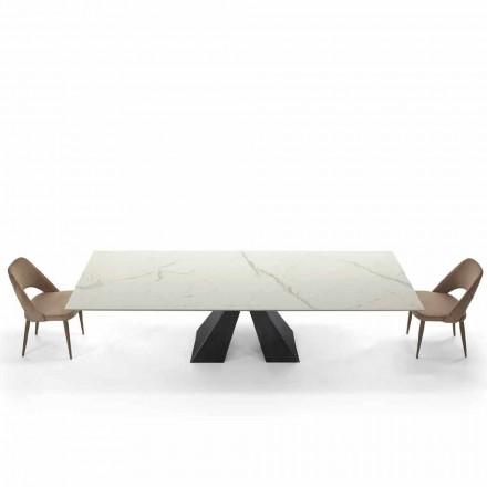 Modernt utdragbart bord upp till 300 cm i marmor tillverkat i Italien - Dalmata