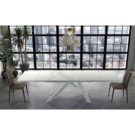 Modernt utdragbart bord upp till 300 cm i marmor tillverkat i Italien - Settimmio