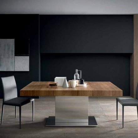 Modernt utdragbart bord Upp till 480 cm i trä tillverkat i Italien - Michael
