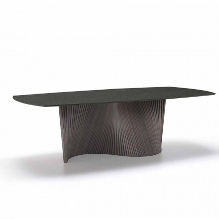 Modernt bord med marmor effekt stengods topp gjord i Italien, Adrano