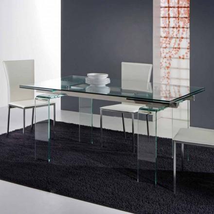 Modern tabell helt i härdat glas Atlanta