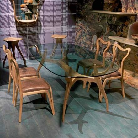 ovalt bord i modern design trä dining L197xP109 cm, Fraco