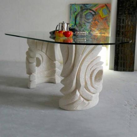 oval sten bord med modern design kristall Furies