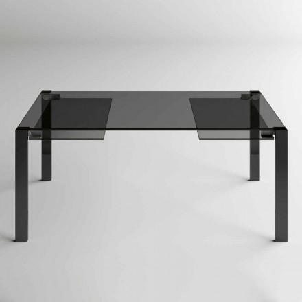 Utdragbart matbord Upp till 280 cm med glastopp Made in Italy - Melo