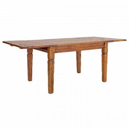 Klassiskt utdragbart bord Upp till 290 cm i massivt trä Homemotion - Carbo