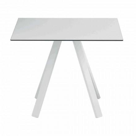 Fyrkantigt utomhusbord i metall och HPL tillverkat i Italien - Deandre