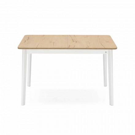 Rektangulärt utdragbart bord upp till 170 cm i trä Tillverkat i Italien - Ät