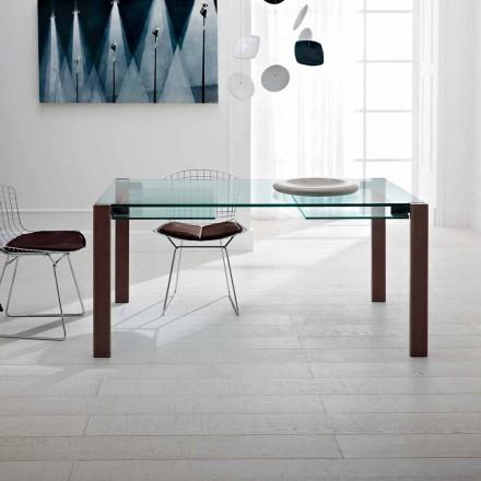 Utdragbart bord Upp till 280 cm i genomskinligt glas tillverkat i Italien - Sopot