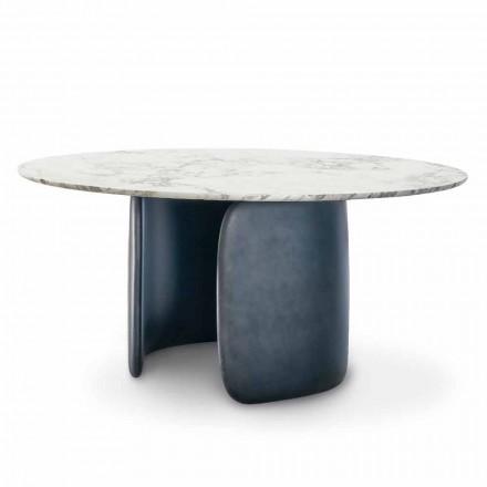 Runt designbord med polerad marmortopp tillverkad i Italien - Mellow Bonaldo
