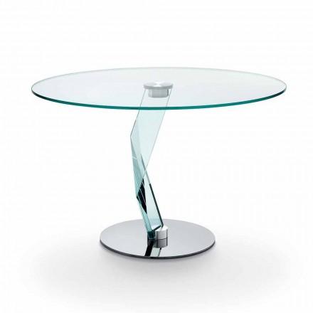 efter diameter runt matbord 120 cm stål och glas Ivonne